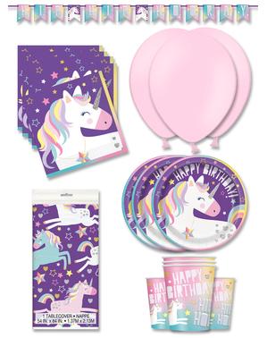 Einhorn Party Deko Premium 16 Personen - Happy Unicorn