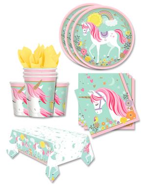 Eenhoorn Feestdecoraties voor 16 personen - Pretty Unicorn