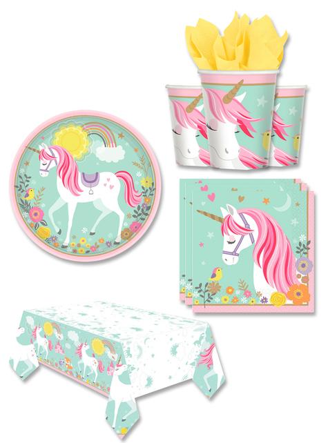 Decoración fiesta unicornio 8 personas - Pretty Unicorn