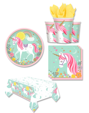 Einhorn Party Deko 8 Personen - Pretty Unicorn