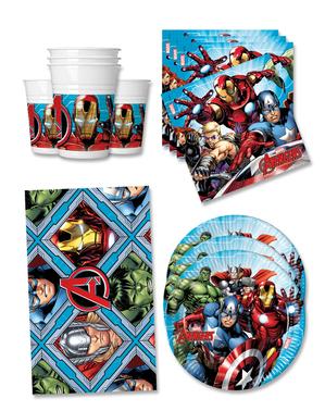 Narodeninové dekorácie Avengers na párty pre 16 osôb