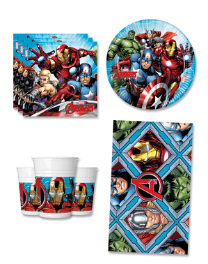 Avengers Bursdagspynt for 8 Personer