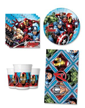 Narodeninové dekorácie Avengers na párty pre 8 osôb