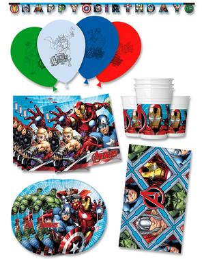 Décoration anniversaire premium Avengers 16 personnes