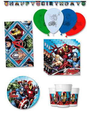 Décoration anniversaire premium Avengers 8 personnes