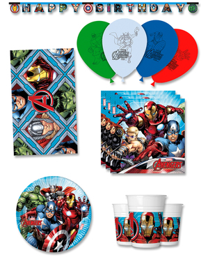 Födelsedagsdekoration premium The Avengers 8 personer