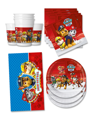 Födelsedagsdekoration Paw Patrol 16 personer - Paw Patrol ready for Action