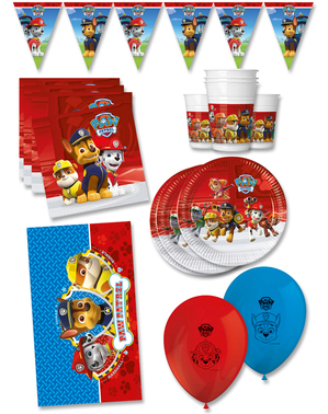 Premium Paw Patrol Birthday Decorations for 16 People - Paw Patrol Ready For Action