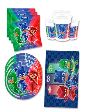 PJ Masks Birthday Decorations for 16 People
