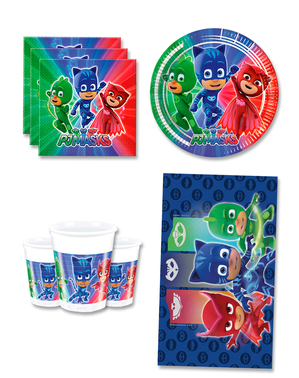 PJ Masks Birthday Decorations for 8 People