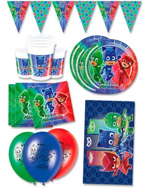 Decorațiune pentru ziua de naștere Premium Pj Masks 16 persoane