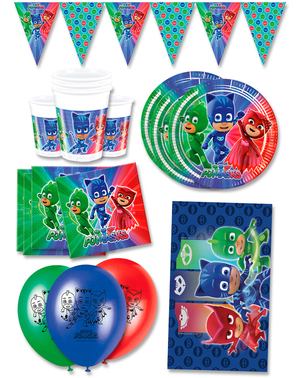Premium PJ Masks Birthday Decorations for 16 People