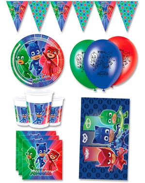 Decoración cumpleaños premium Pj Masks 8 personas