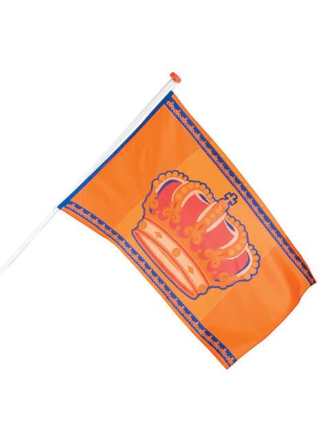 Bandera naranja con corona