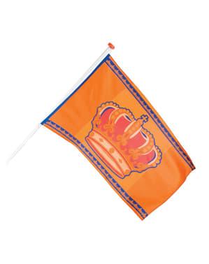 Bandeira cor de laranja com coroa
