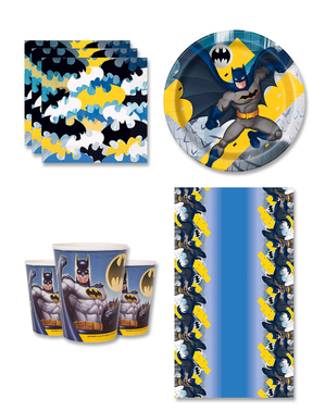 Decoración cumpleaños Batman 8 personas