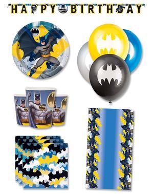 Décoration anniversaire premium Batman 8 personnes