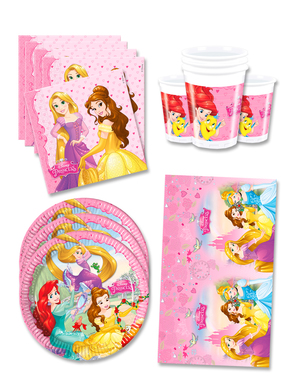 Disney Princess Birthday Decorations for 16 People