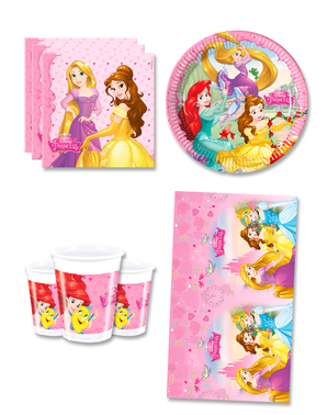 Disney Princess Birthday Decorations for 8 People