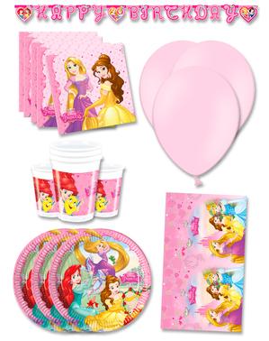 Décoration anniversaire premium princesses Disney 16 personnes
