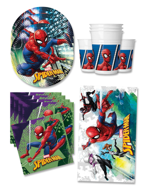 Spiderman syntymäpäiväkoristeet 16 hengelle