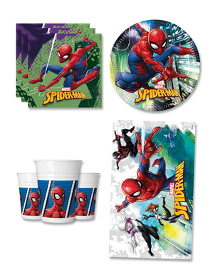 Spiderman Fødselsdagsdekorationer til 8 personer