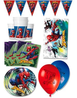 Hämähäkkimiehen premium syntymäpäiväkoristeet 16 hengelle
