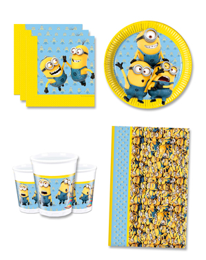 Lovely Minions Birthday Decorations for 8 People