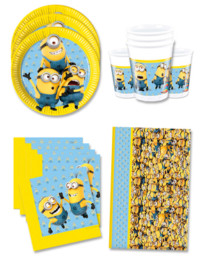 Lovely Minions Birthday Decorations for 16 People