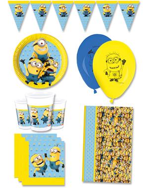 Premium Dejlige Minions Fødselsdagsdekorationer til 8 personer