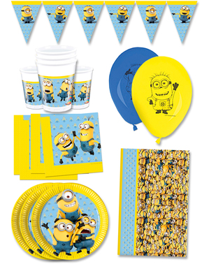 Premium Lovely Minions Birthday Decorations for 16 People