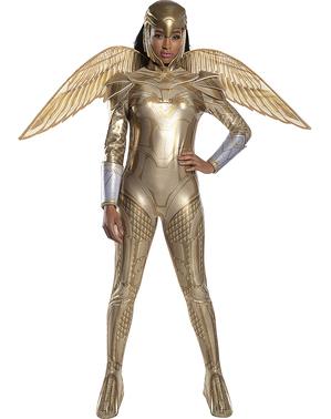 Fato de Mulher-Maravilha 1984 Armadura Dourada para mulher