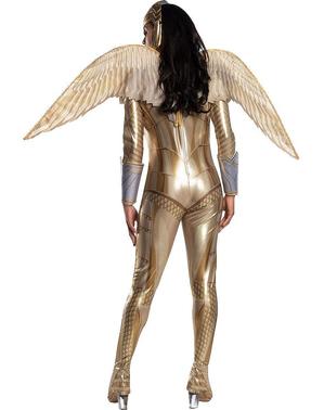 """Дамски костюм на Жената чудо със златна броня– """"Жената чудо 1984"""""""