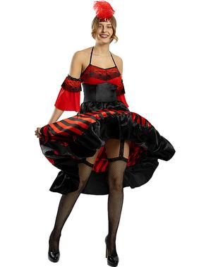תחפושת שמלת קאן-קאן לנשים בצבע שחור