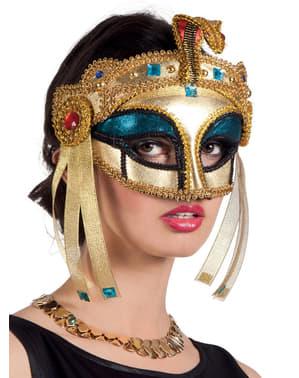 Máscara de rainha do Nilo para mulher