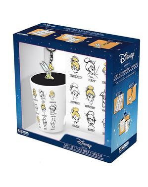 Tinker Bell Geschenk Set: Tasse, Schlüsselanhänger und Notizbuch