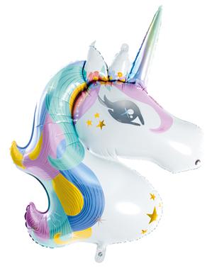 Globo de foil unicornio (73x90cm)