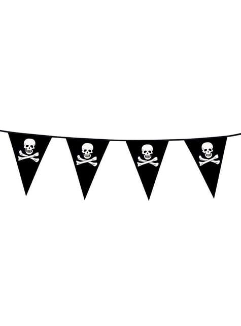 Banderines piratas calavera