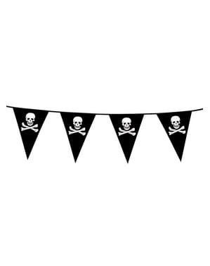 Γιρλάντα με Τριγωνικά Πειρατικά Σημαιάκια με Κρανία