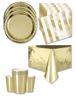 Decorațiuni aurii pentru petreceri 16 persoane - Linia de culori de bază