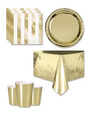 Decorațiuni aurii pentru petreceri 8 persoane - Linia de culori de bază
