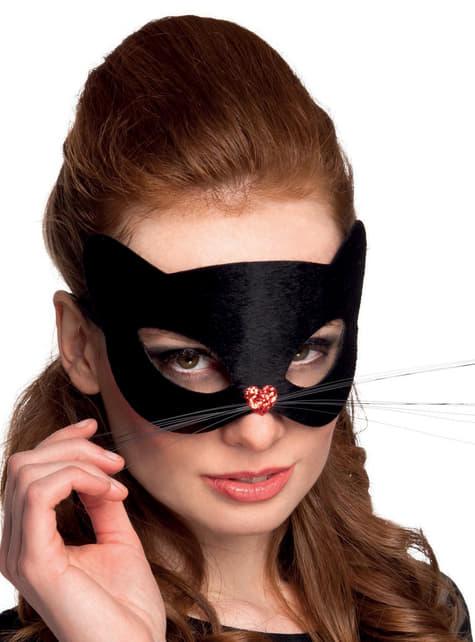 女性の黒猫の仮面舞踏会マスク