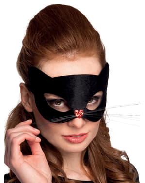 Дамска маска за маскарад с черна котка