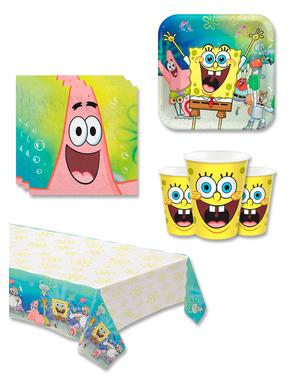Decorațiune aniversară SpongeBob 8 persoane