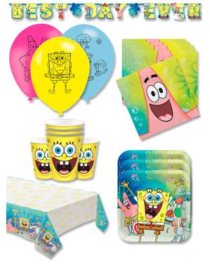 Narozeninové dekorace SpongeBob premium pro 16 lidí