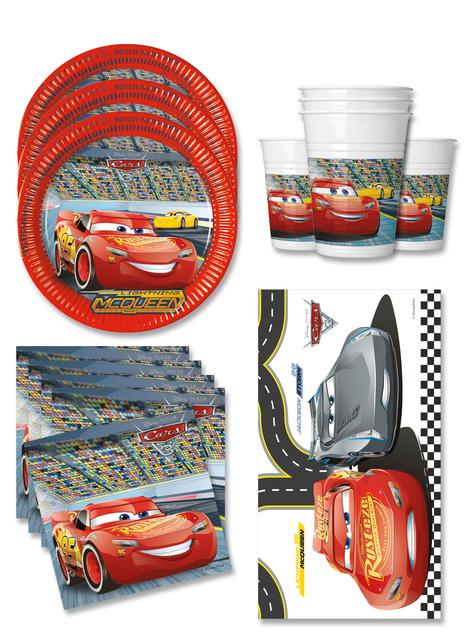 Decoración cumpleaños Cars 16 personas