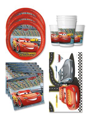 Decoratiune zi de naștere Cars 16 persoane