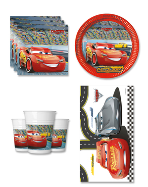 Decoratiune zi de naștere Cars 8 persoane