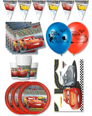 Premium Biler Fødselsdagsdekorationer til 16 personer