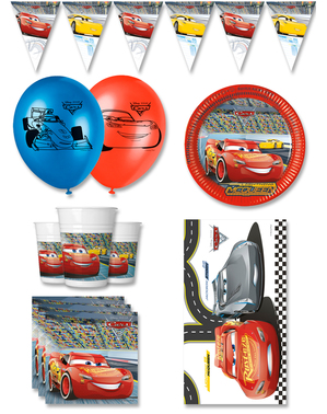 Premium Cars Birthday Decorations for 8 People